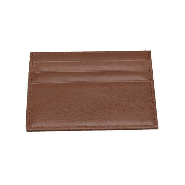edb3431f07 Minimalist Leather Card Holder - Brown
